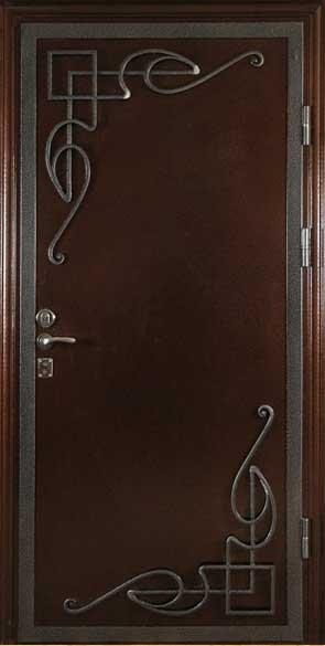декоративные элементы на металлической входной двери