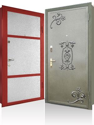 дверь металлическая двупольная внутрен