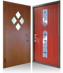 двери входные дёшево стеклом