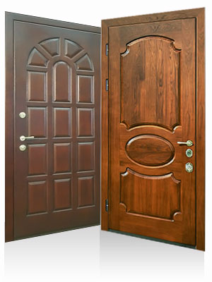 входные двери метал с мдф